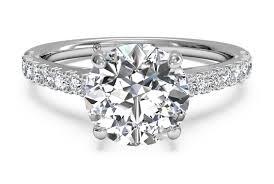 set diamond cut set diamond band engagement ring in platinum 0 23 ctw