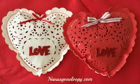 heart shaped doilies heart shaped doily candy gifts nana s loopy