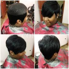 short hairstyle wigs for black women 2017 new pixie cut cheap real hair wig rihanna black short cut