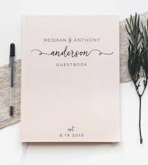 wedding guest book custom last name calligraphy wedding guest book stationery
