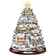 amazon com thomas kinkade christmas tabletop tree songs of the