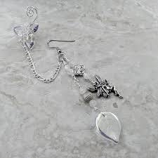 bajoran earring silver fairy chain ear cuff earring bajoran thyme2dream
