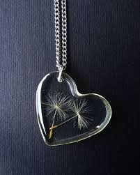 resin necklace pendants images Dandelion seed necklace dandelion pendant heart charm real jpg