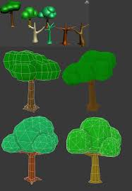 low poly tree wireframe modeling wireframe low