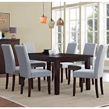 Grey Dining Room by Simpli Home Acadian 7 Piece Dove Grey Dining Set Axcds7 Aca Dgl