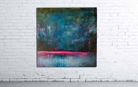saatchi art abstract minimalistic interior oil painting night