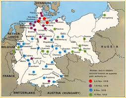 Map Of Germany And Austria by German Revolution Maps