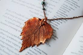 real leaf necklace images Real leaves enchanted leaves jpg