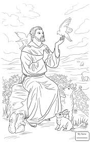 Coloring Pages Saint Francis Of Assisi Saints Christianity Bible Saints Colouring Pages