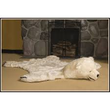 faux fur polar bear skin rug by ditz designs u2013 lakecabin depot