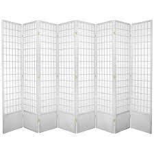 White Room Divider 7 Ft White 8 Panel Room Divider 84wp Wht 8p The Home Depot