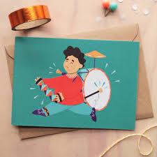 drummer boy card by sayers illustration