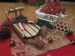 Christmas Table Centerpiece by Christmas Table Centerpiece Joy Centerpiece Sleigh Centerpiece