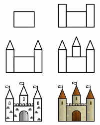 coloring engaging easy draw castle kids step 0
