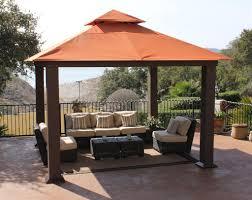 Outdoor Living Patio Ideas by Stc Pergola 12x12 Seville Wicker Square Gazebo Gz734 Lowest