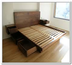 diy platform bed frame with storage home design ideas