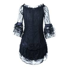 Chi Chi Halloween Costume Halloween Costumes Woman Lace Cosplay Black Middle Ages