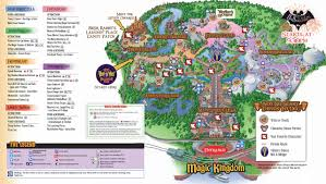 Magic Kingdom Map Orlando by 2011 Mickey U0027s Not So Scary Halloween Party Map U2013 Easywdw