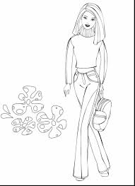 marvelous barbie coloring pages with barbie coloring page