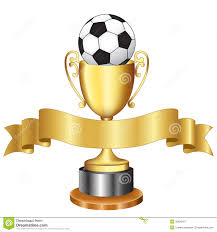 halloween trophy soccer championship trophy and ribbon royalty free stock
