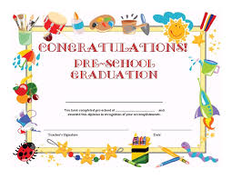 certificate template for kids free templates preschool graduation certificate template free
