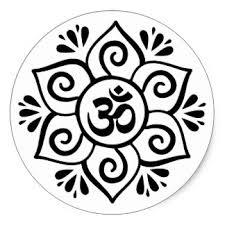 Lotus Flower With Om Symbol - yoga lotus flower om stickers zazzle co nz