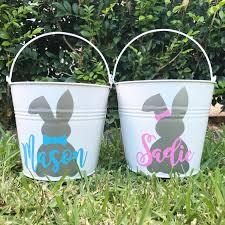 easter buckets metal easter name it custom decor