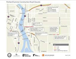 Portland Light Rail Map by Southeast Portland Construction Projects Will Close Major Streets