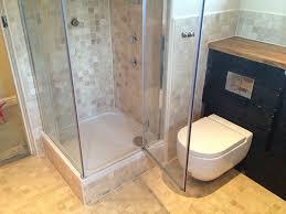 bathroom installation raised shower tray