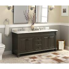 custom double sink vanity walnut double vanity view full