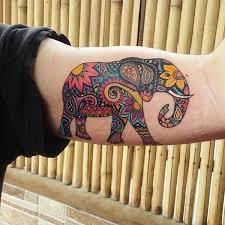 What Do Elephant Tattoos Best 25 Colorful Elephant Ideas On Elephant