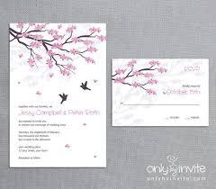Love Bird Wedding Invitations Elegant Wedding Invitations Cherry Blossom Wedding Cards Bird