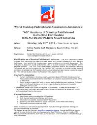 asi sup instruction certification course