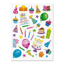 birthday stickers birthday stickers balloon cake stickers current catalog