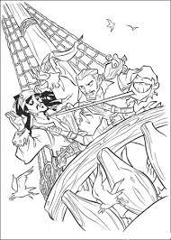 jack captured pirates coloring free printable