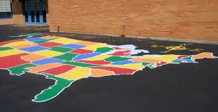 United States Map Games by New Playground Paint Sowers Elementary
