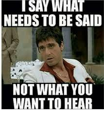 Say What Meme - i say what needs to be said not what you want to hear meme on sizzle