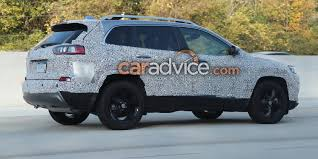 jeep rally car 2018 jeep cherokee spied goodbye quirky headlights photos 1 of 8