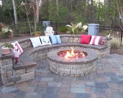 Backyard Propane Fire Pit by Outdoor Propane Fire Pit Backyard Patio Deck Stone Fireplace With