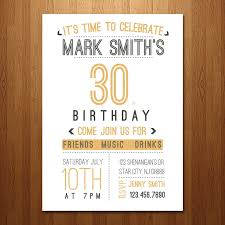 30th birthday invitations templates eliolera com