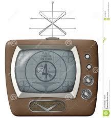 test pattern media retro vintage tv vector isolated antenna stock illustration