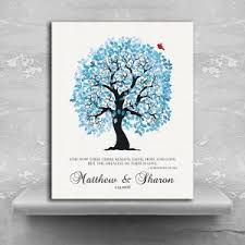 10th anniversary gift 1 corinthians 13 13 personalized blue and white family tree 10th