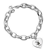 customized baby bracelets personalised baby handprint jewellery heart bracelet next day