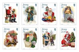 jersey stamps tell the story of father christmas sepac stamps