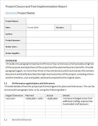 closure report template project closure report exle professional and high quality