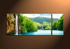 3 piece ocean green canvas photography