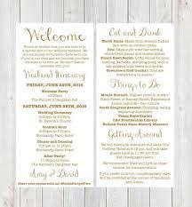 wedding itinerary wedding welcome bag itinerary template badi deanj
