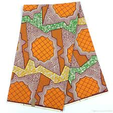2017 orange color super wax fabric traditional style veritable wax