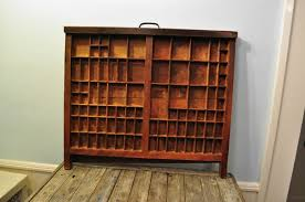 antique printers drawer 4 trays vintage