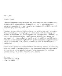 grant thank you letter template 28 images sle scholarship